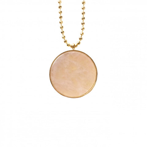 Collier court - Quartz rose
