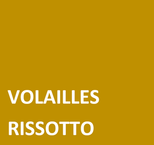 Volailles , risotto