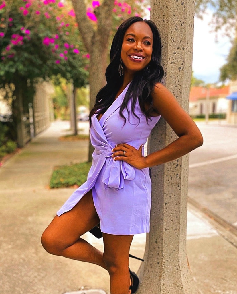 THE LITTLE PERFECT LILAC WRAP DRESS