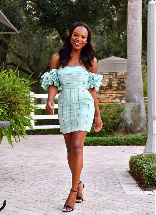 Casual Mint Stripes Dress