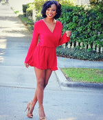 Long Sleeve Ruffle Romper