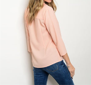 Babe In Blush Work Casual Blouse