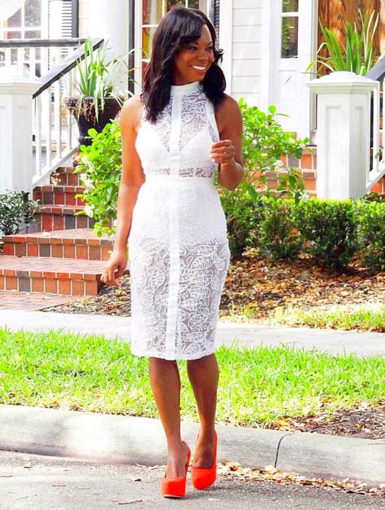Pure Lace Bodycon Dress