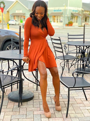 Mikaela Long Sleeve Midi Work Dress
