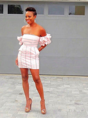 Babe In Blush Ruffle Mini Dress