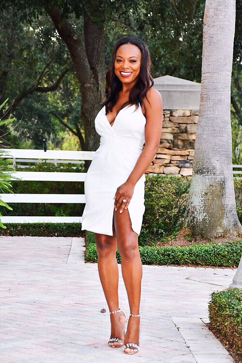 Classic Glam Off White Bodycon Dress