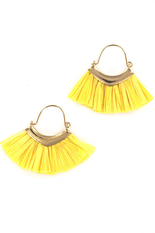 Mickaa Hand Made Raffia Earrings