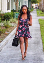 Making Her Way Downtown Floral Midi Dress