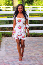 Simplicy Short Sleeve Flower Dress