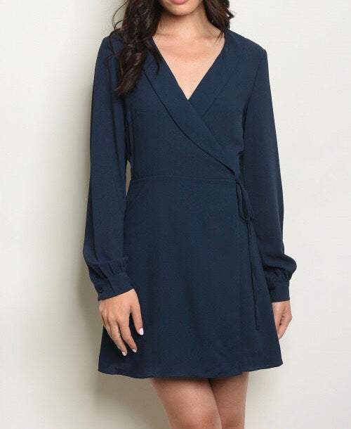 Navy Blue Corporate Dress
