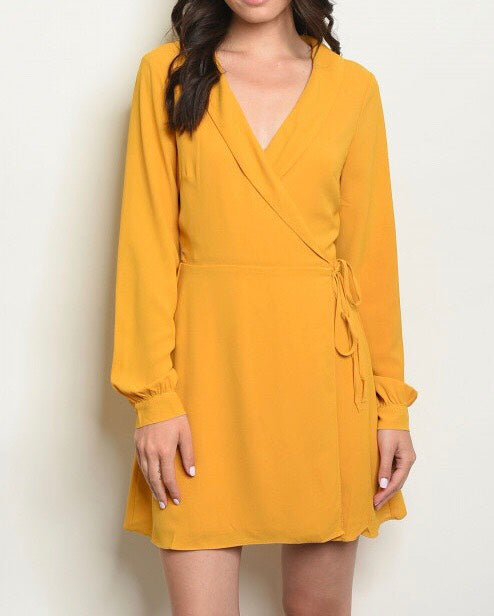 Corporate Long Sleeve Wrap Dress