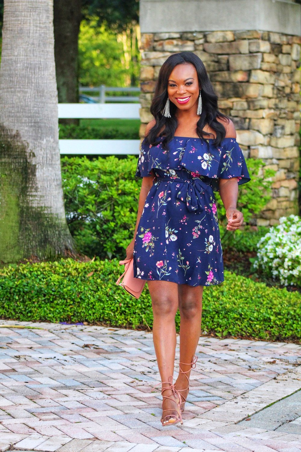 Confidence Off The Shoulder Ruffled Dress