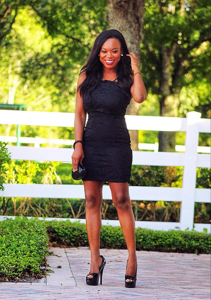 Mickaa Remarkable Little Lace Black Dress