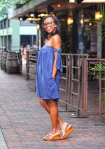 Simple Is Beautiful Off The Shoulder Dress