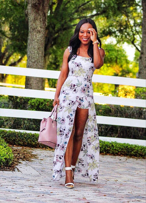 Ladies Who Brunch In Style Flower Maxi Dress