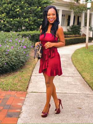 From Summer To Fall Ruffled Dress