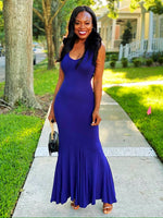 Mermaid Navy Blue Maxi Dress