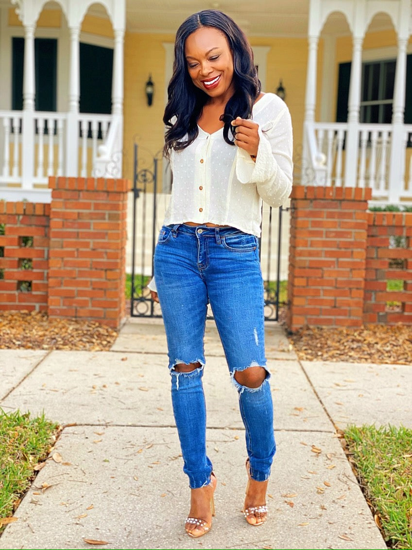 Mickaa Fav Weekend Cut -Out Jeans
