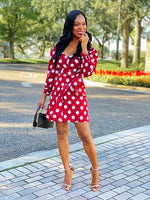 Doting Over you Mini Polka Dress