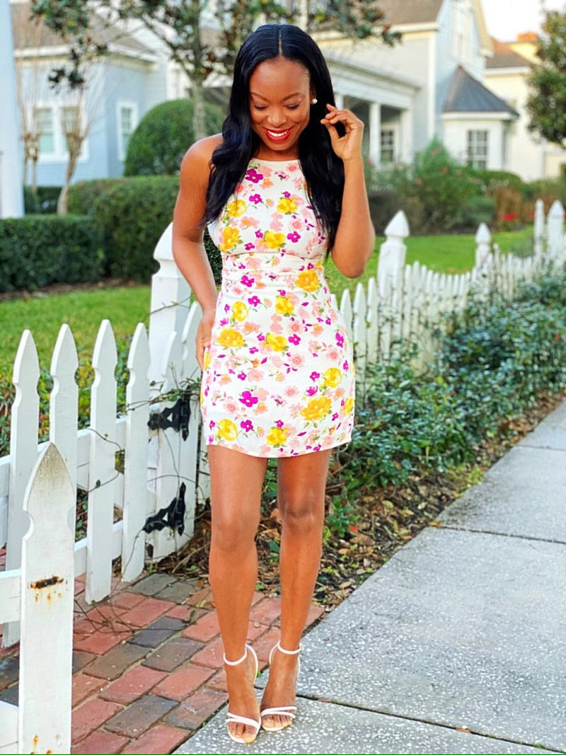 Missing Summer Floral Print Dress