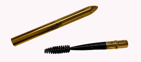 Our new compact brow spoolie is perfect for your handbag and brow touch ups.