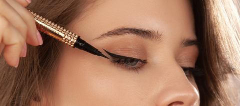 Achieve the perfect liner and lash application with Stick Around