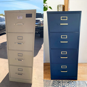 Painted Metal Filing Cabinet—Using BB Frösch in a Sprayer