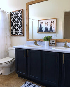 How to Paint Cabinets--Bathroom Makeover Part One