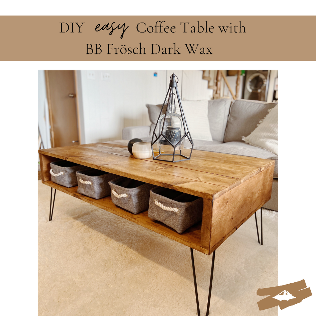 EASY DIY Coffee Table--with DARK wax!