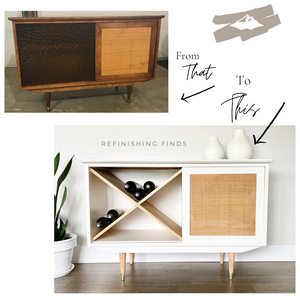 How to Turn a Dated Cabinet into a Super-Cool Sideboard/Custom Wine Rack