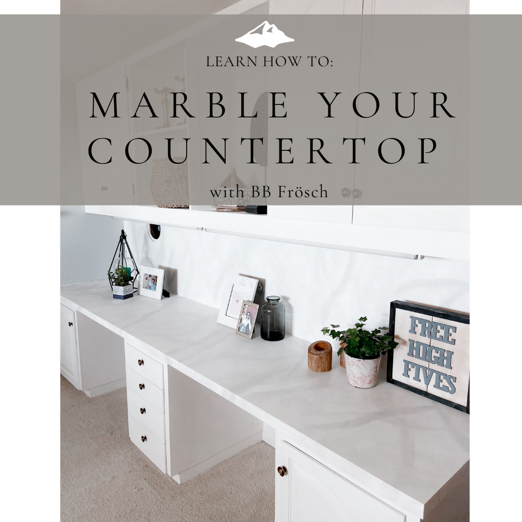 How to Paint Faux Marble Countertops with Chalk Paint for under $20