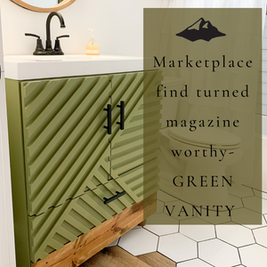 Marketplace Find Turned Magazine-Worthy GREEN Vanity!