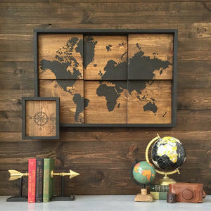 World Map Wall Art Tutorial