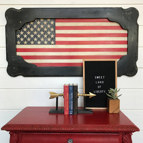 Turn an Old Table into Cool Patriotic Art