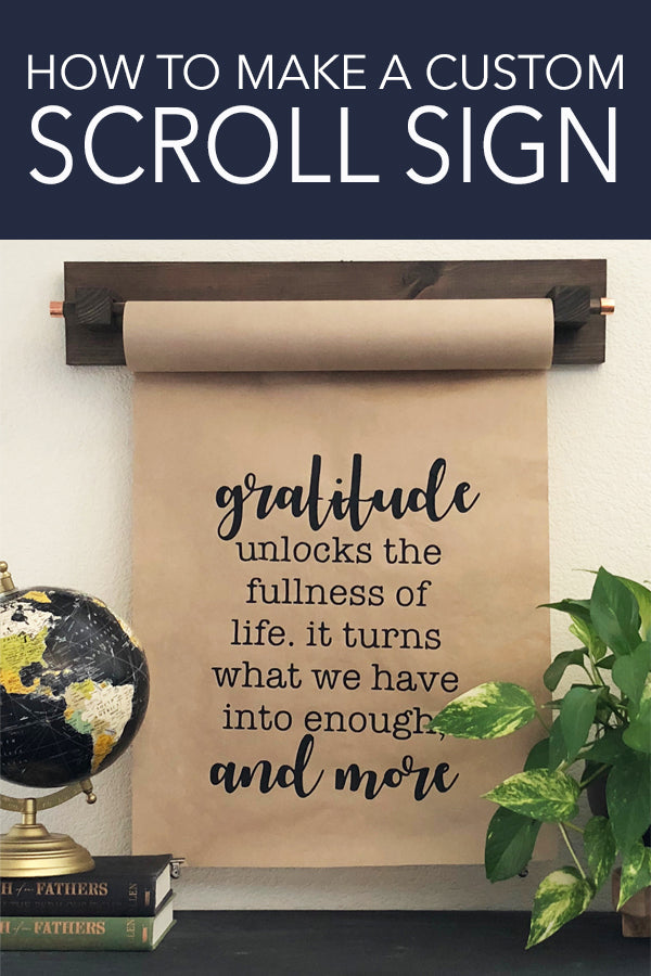 How to Make a Paper Scroll Sign and Holder