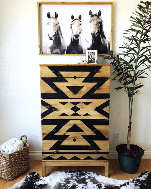 Southwest-Inspired IKEA Dresser Makeover