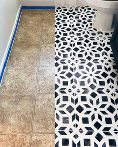 How to Paint Linoleum or Tile Floors--Bathroom Makeover Part 2