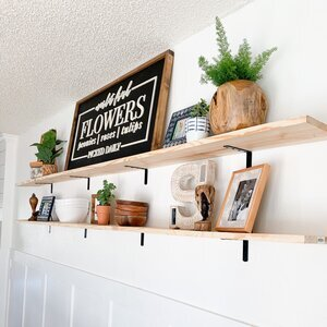 Easy Peasy Modern Farmhouse Shelves