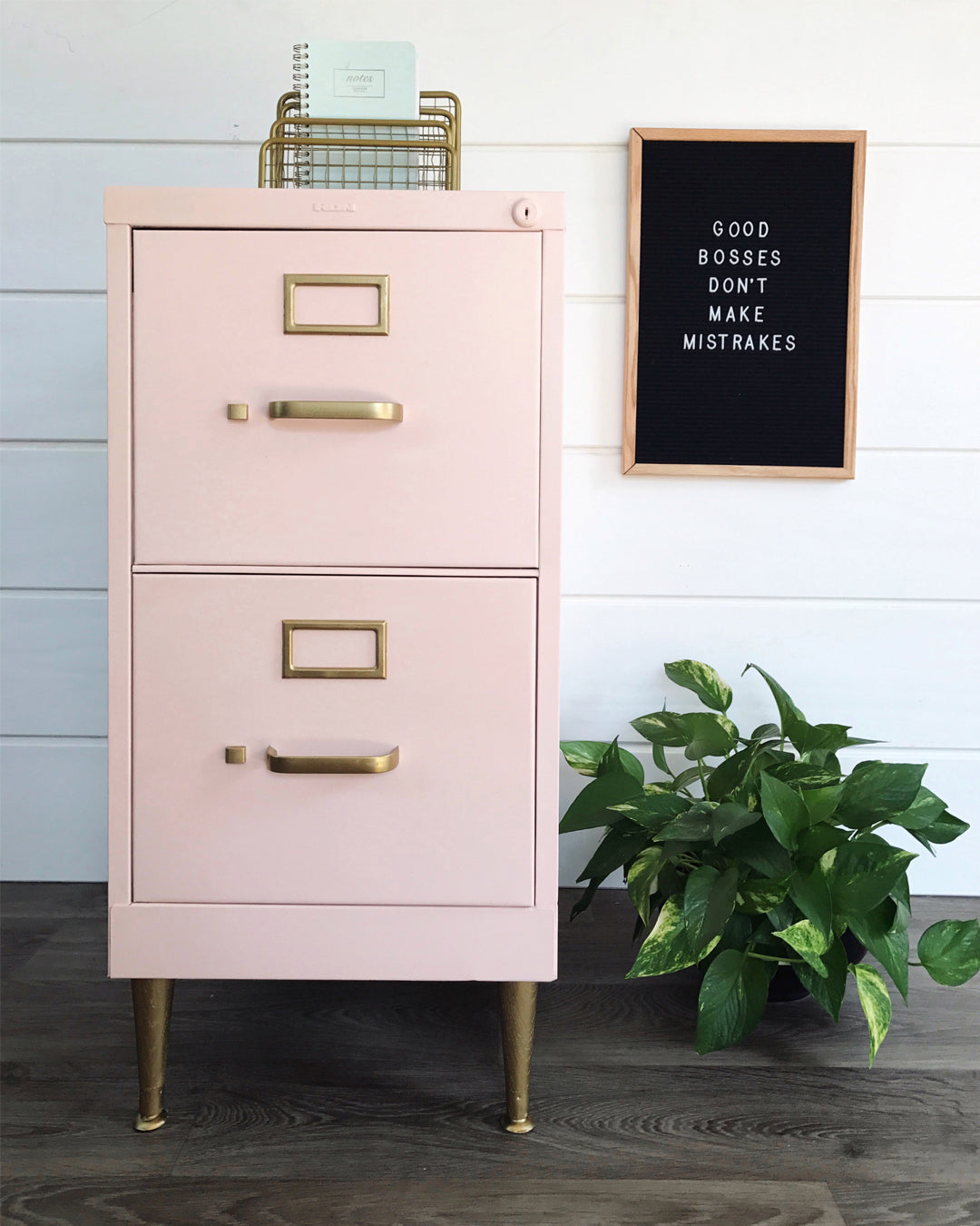 Pink-chalk-painted-filing-cabinet