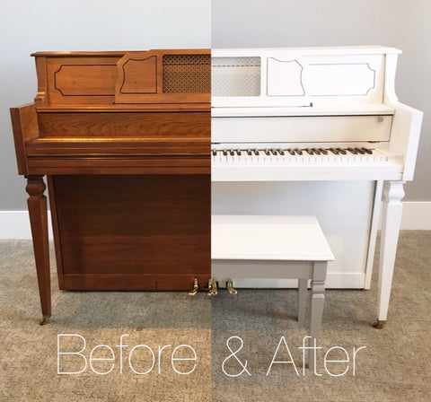 White Piano Before and After