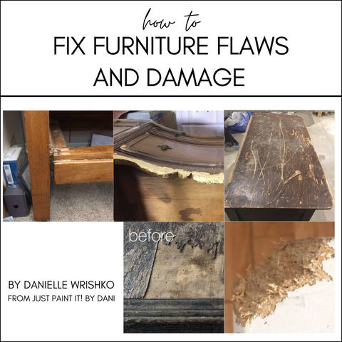 How to Fix Furniture Flaws and Damage