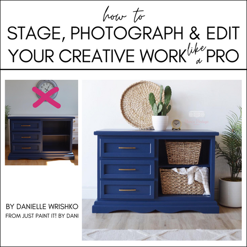 How to Stage, Photograph and Edit Your Creative Work Like a Pro