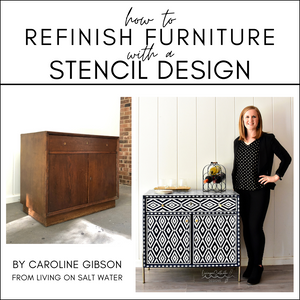 How to Refinish Furniture with a Stencil Design