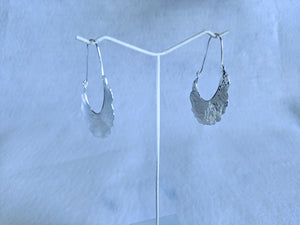 sterling silver earring hammered breaker hoop APFJ