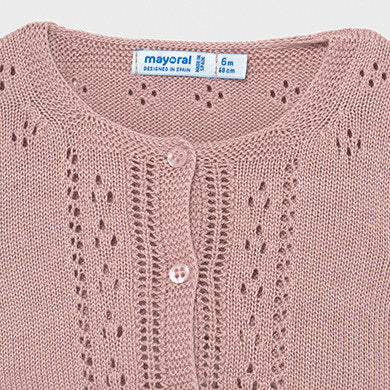 1336 cardigan in tricot