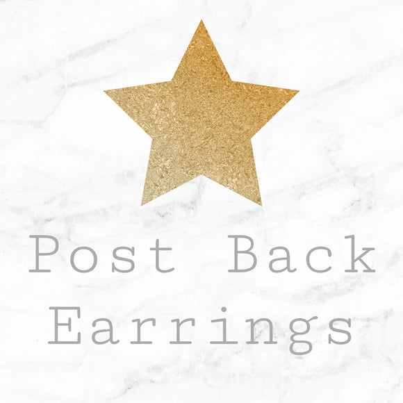 Post-back Earrings