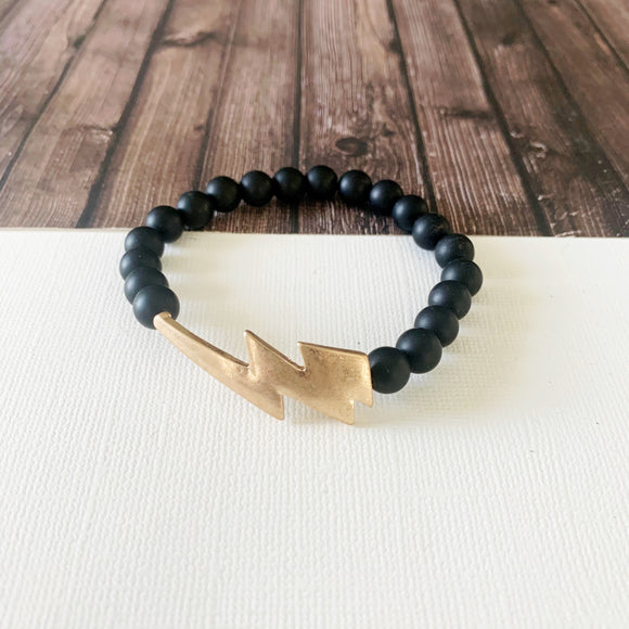Boutique Bracelet Collection :: Jessa Natural Stone - Onyx