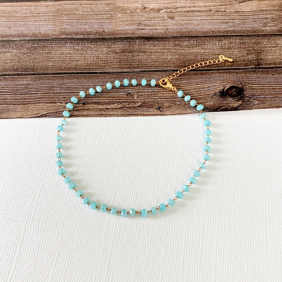 Baubles & Bits Boutique :: Heather Turquoise Beaded Anklet