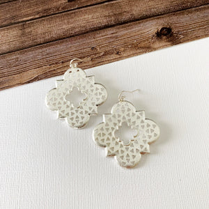 Mixed Metals Earring Collection :: Hannah Silver Filigree Clovers