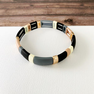 Boutique Bracelet Collection :: Penelope Grey Tile Bracelet